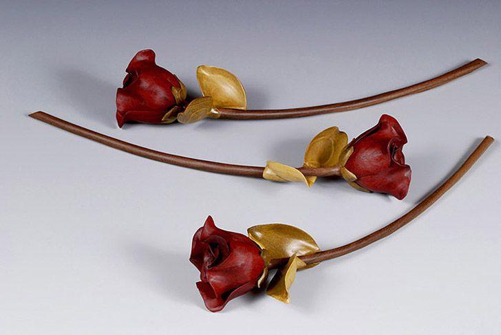 Как сделать деревянная роза
